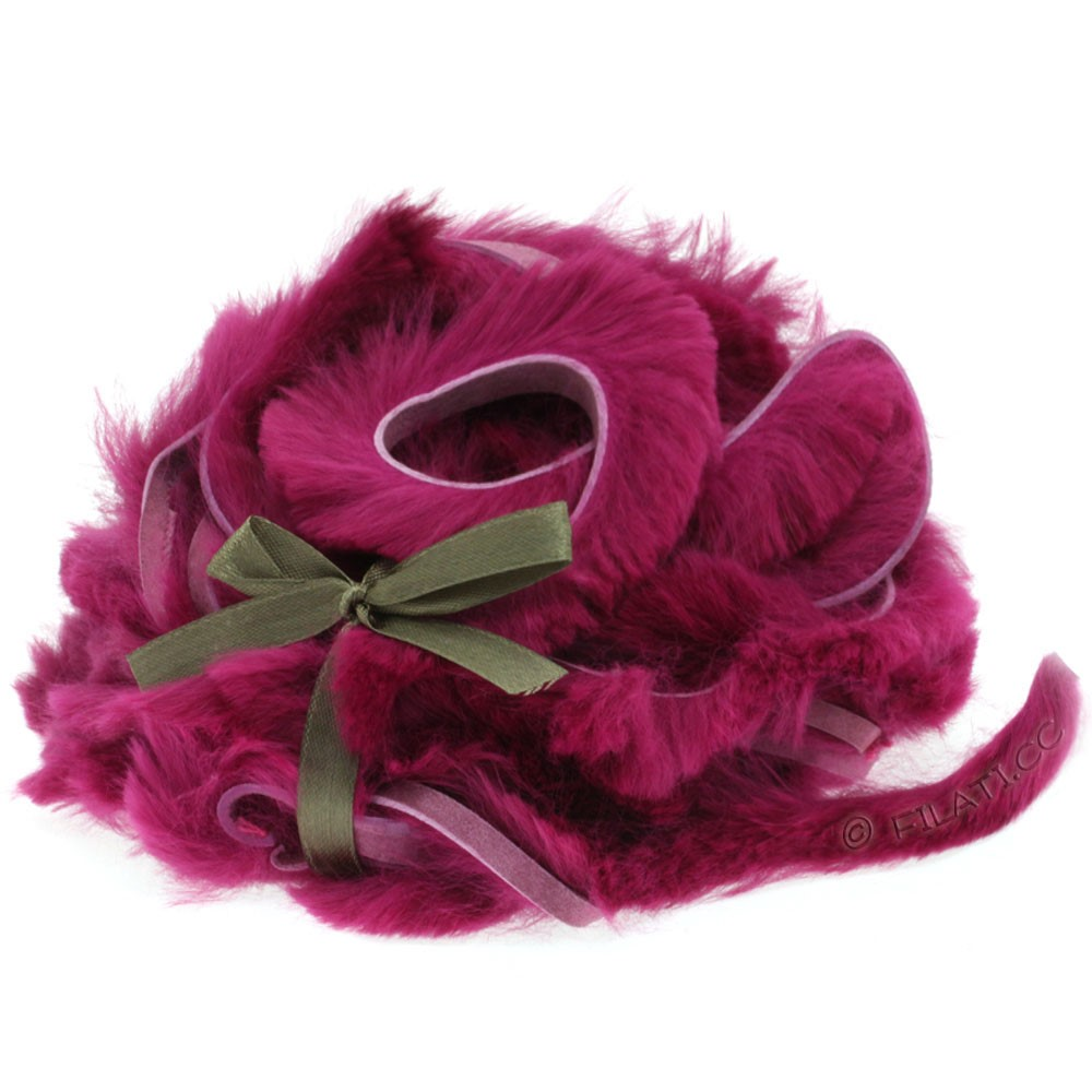 Fur Ribbons Rabbit | 405-aubergine