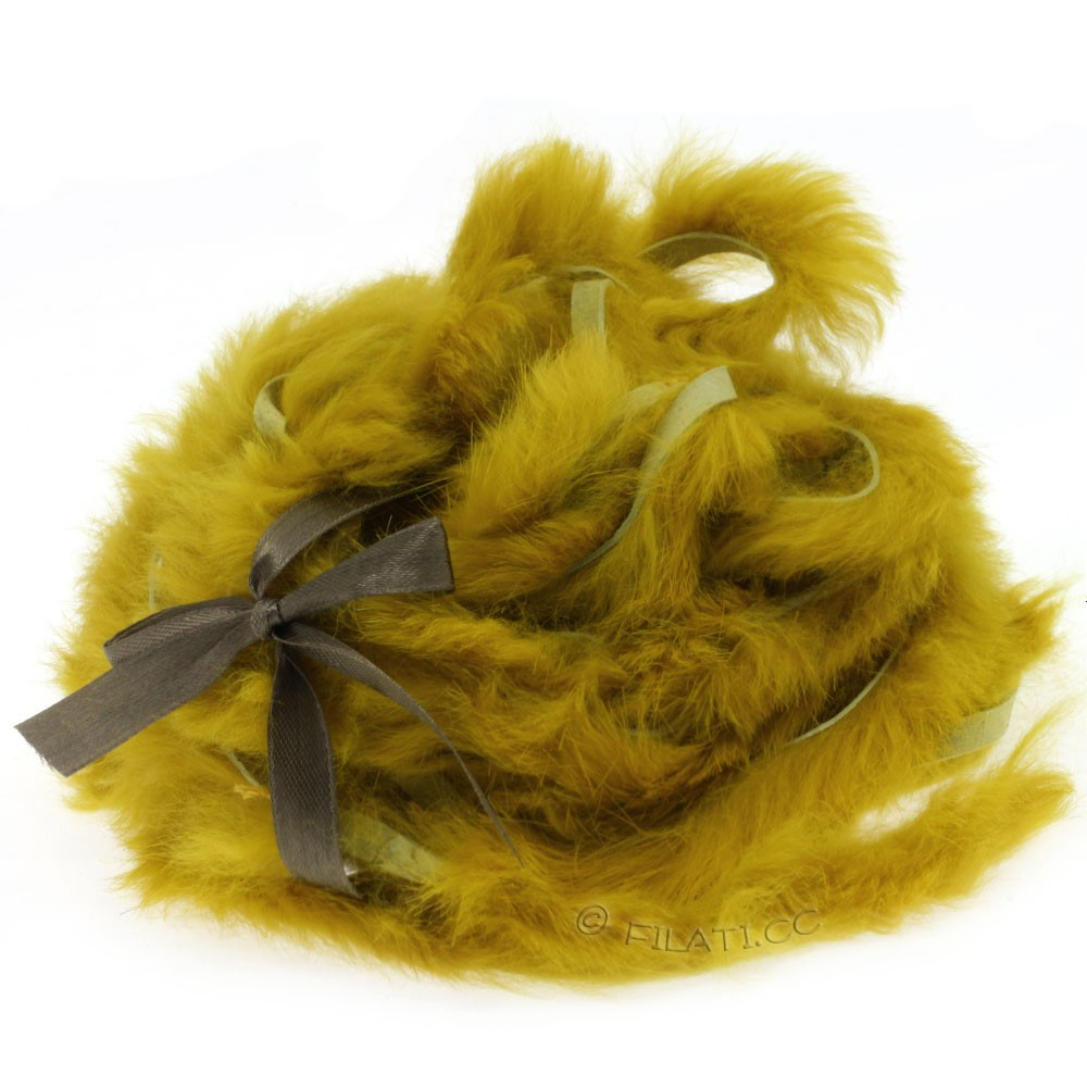Fur Ribbons Rabbit | 407-mustard
