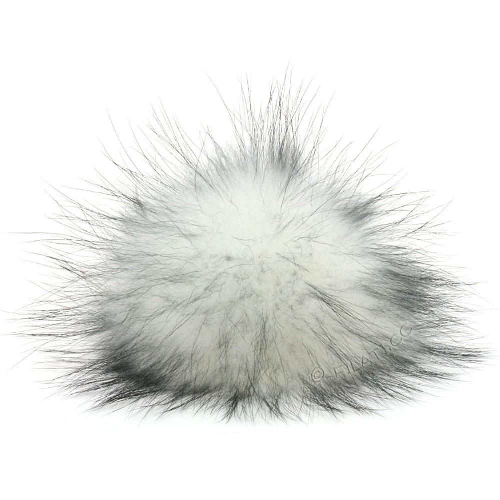 Fur Pompom Finnraccoon Fashion | 132-white/black