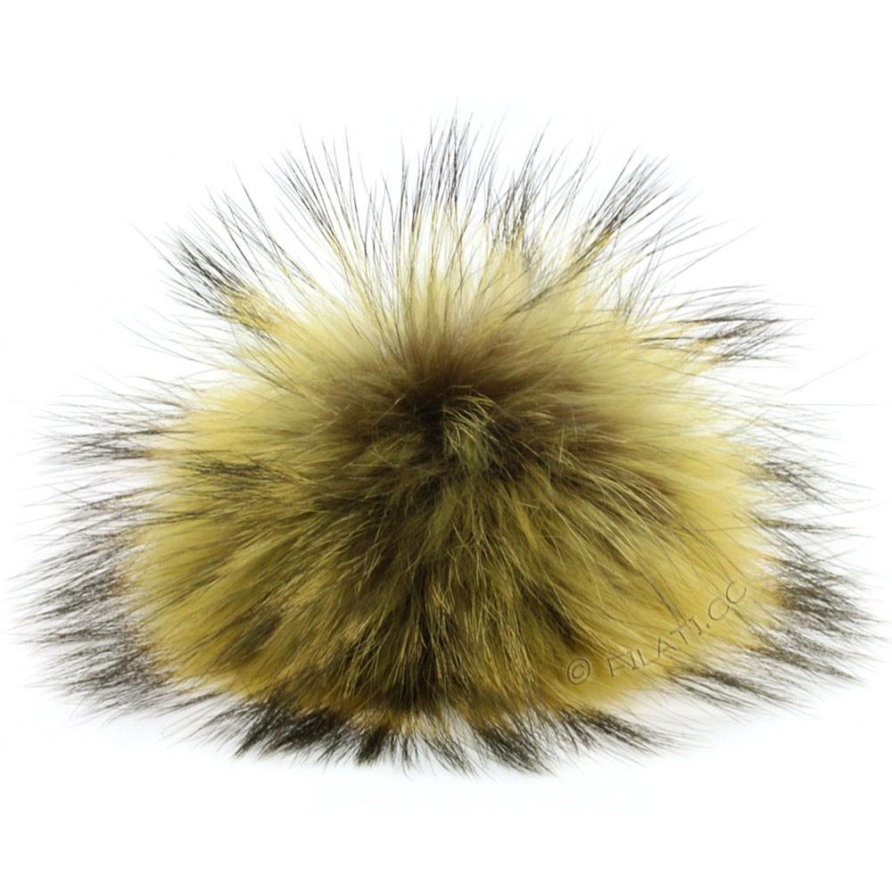 Fur Pompom Finnraccoon Fashion | 133-mustard