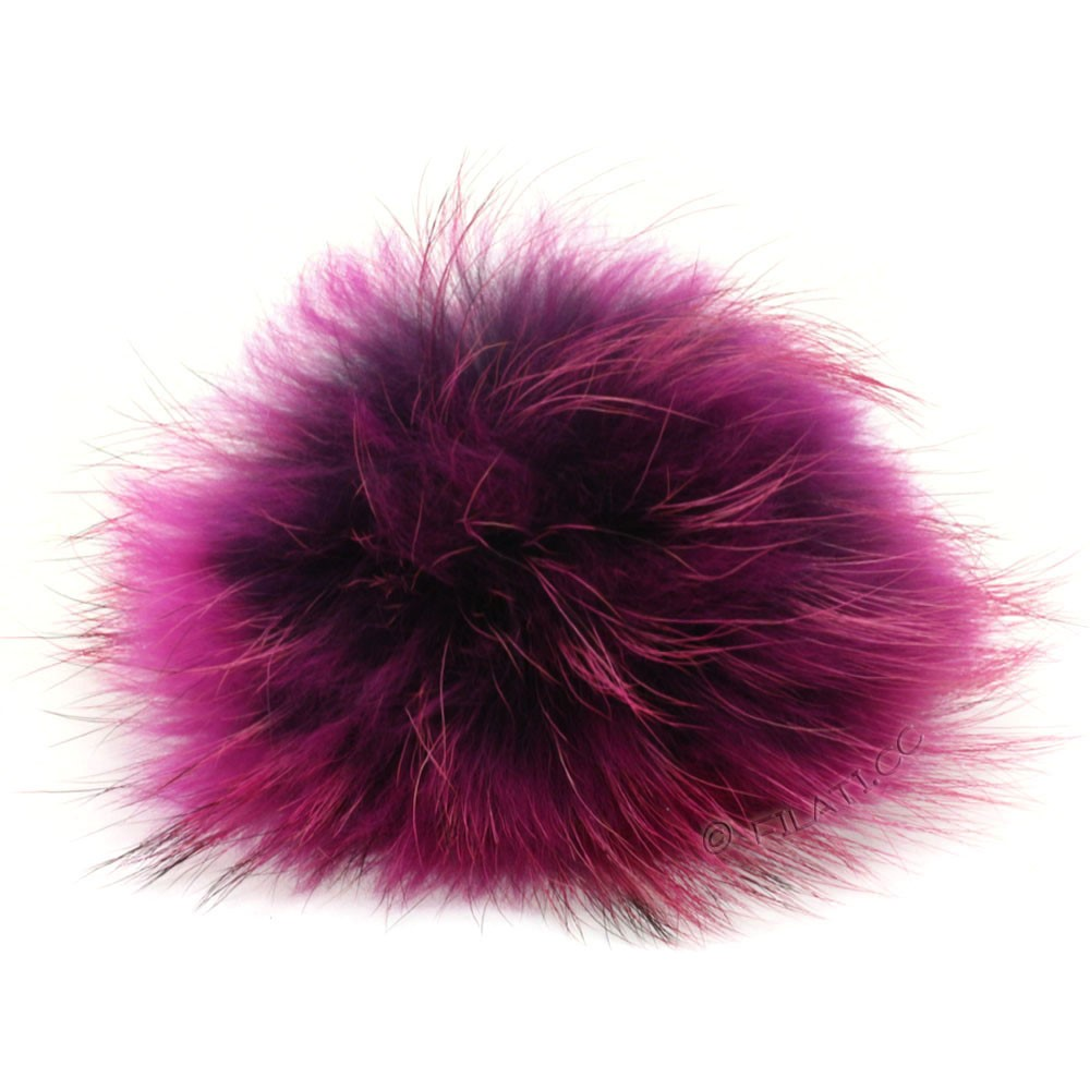 Fur Pompom Finnraccoon Fashion | 141-lilac/pink
