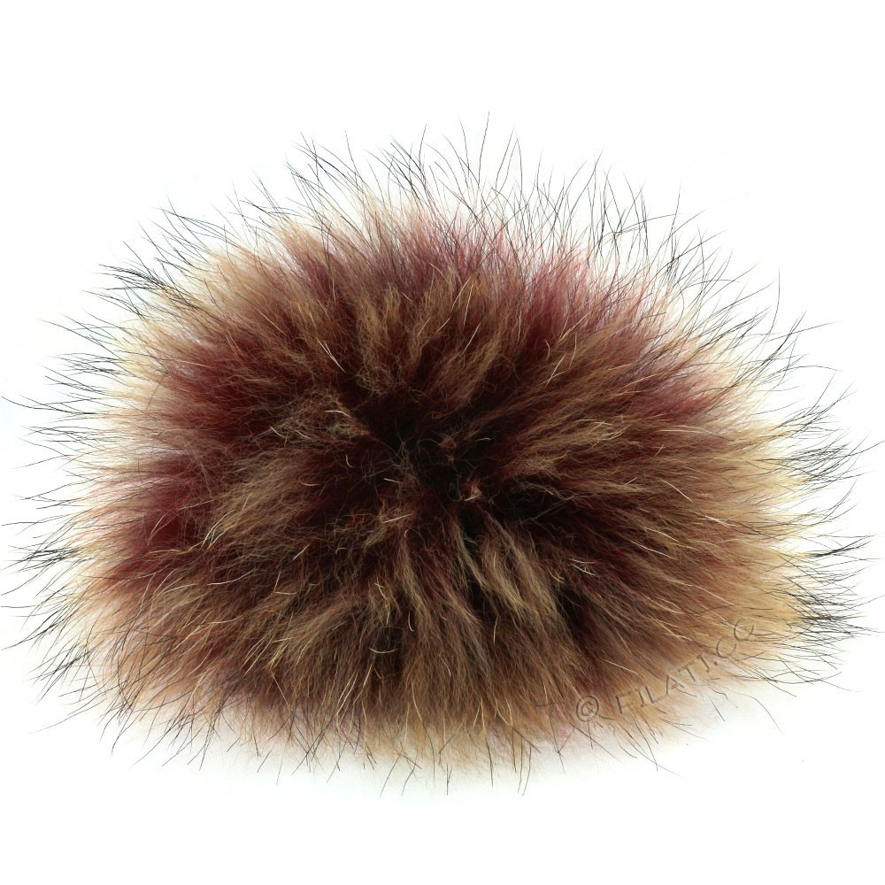 Fur Pompom Finnraccoon Fashion | 150-bordeaux/natural