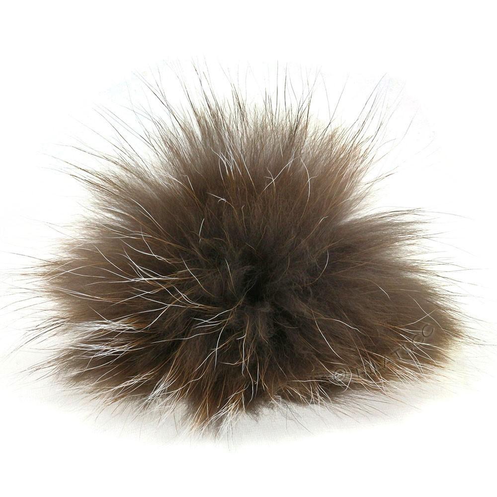 Fur Pompom Finnraccoon Fashion | 152-taupe