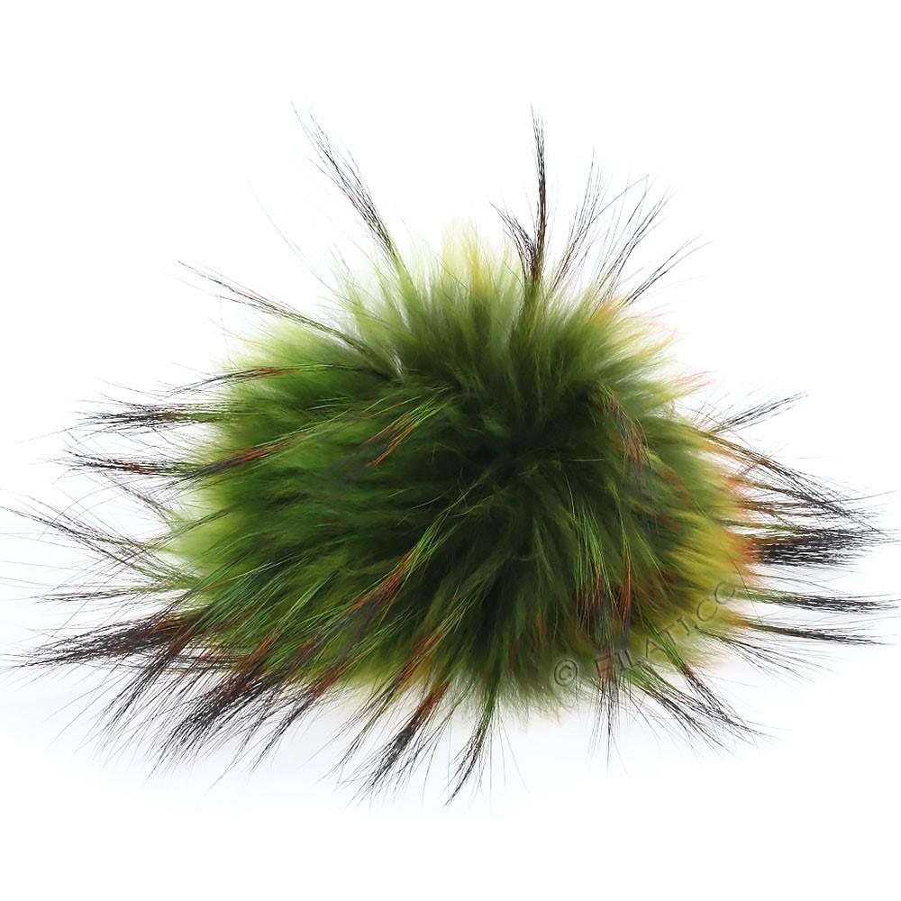 Fur Pompom Finnraccoon Fashion | 156-fall green