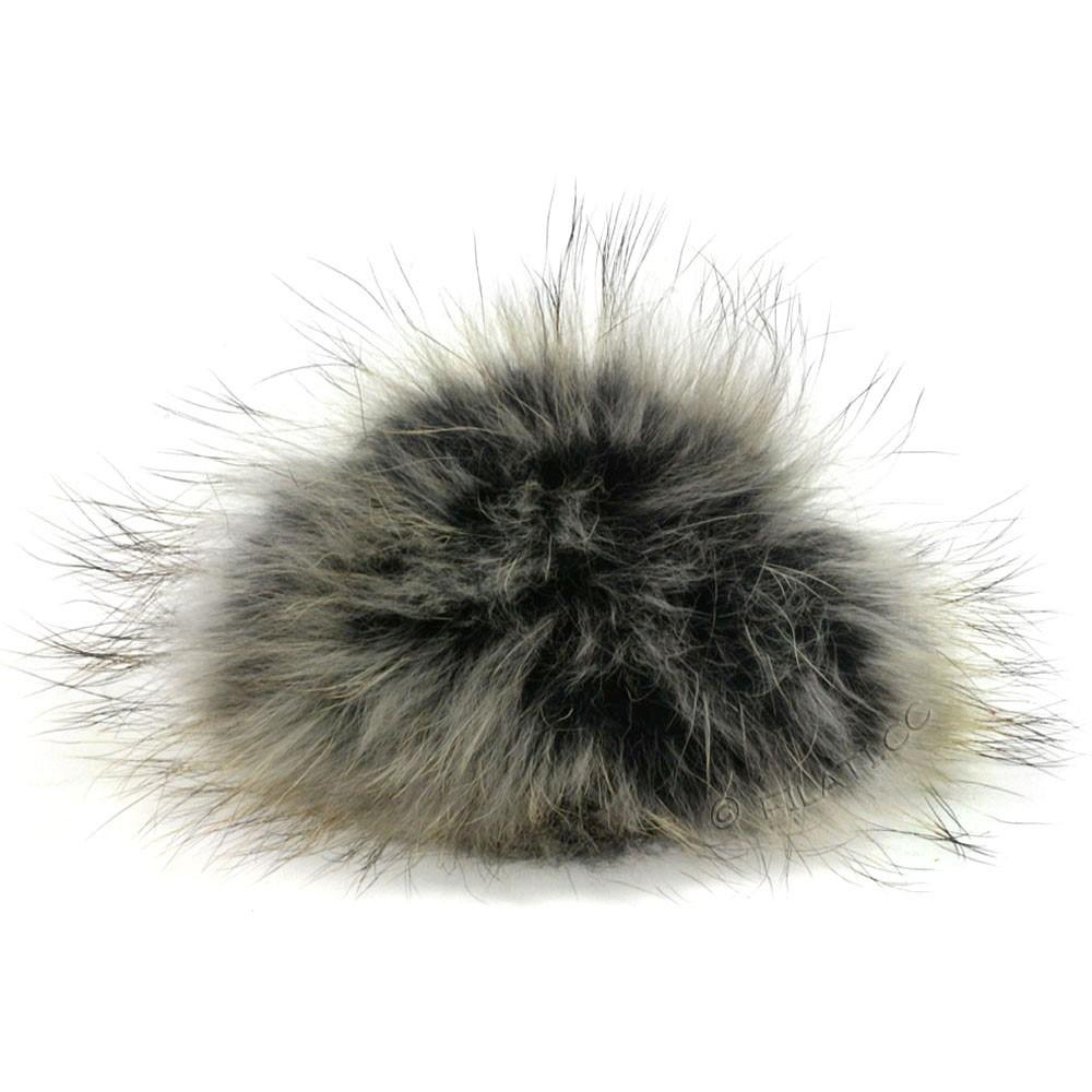 Fur Pompom Finnraccoon Multicolor | 145-black/gray