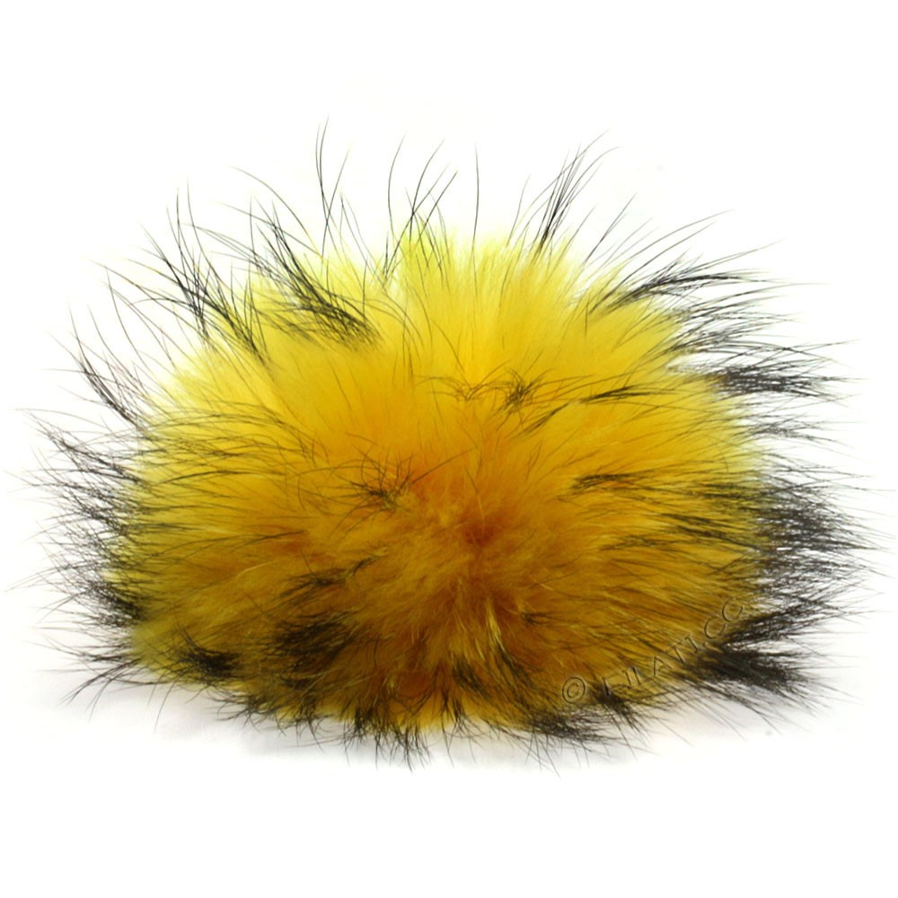 Fur Pompom Finnraccoon Natural Color | 125-lemon