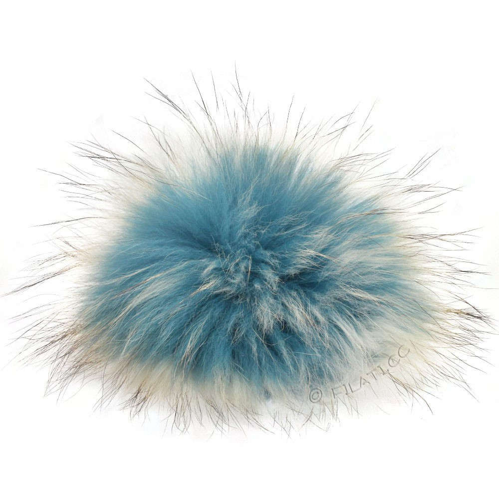 Fur Pompom Finnraccoon Natural Color | 509-sky blue/ice blue