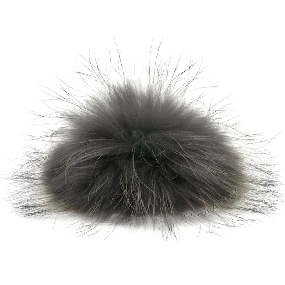 Fur Pompom Finnraccoon Natur | 112-anthracite/black