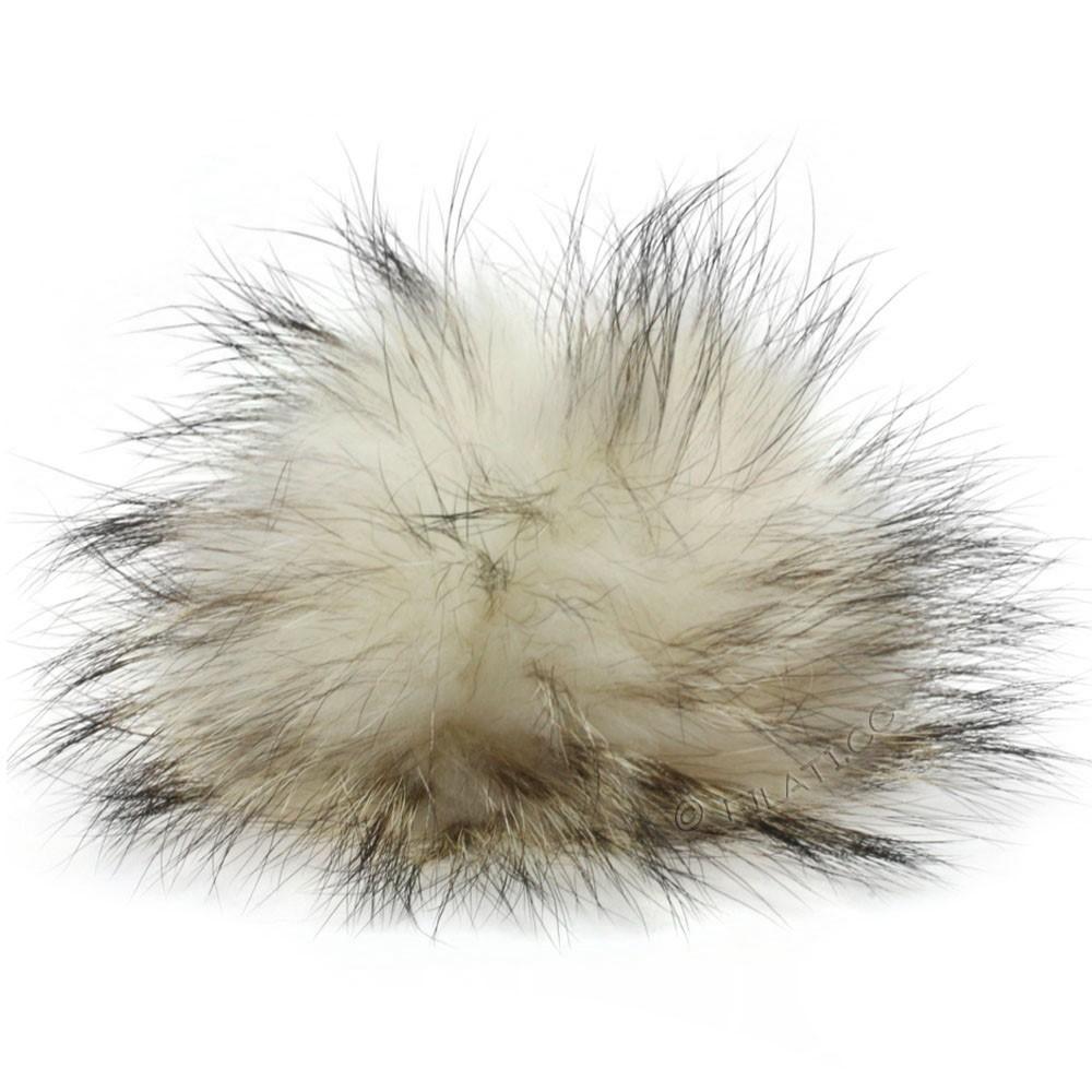 Fur Pompom Finnraccoon Natur   115-polar