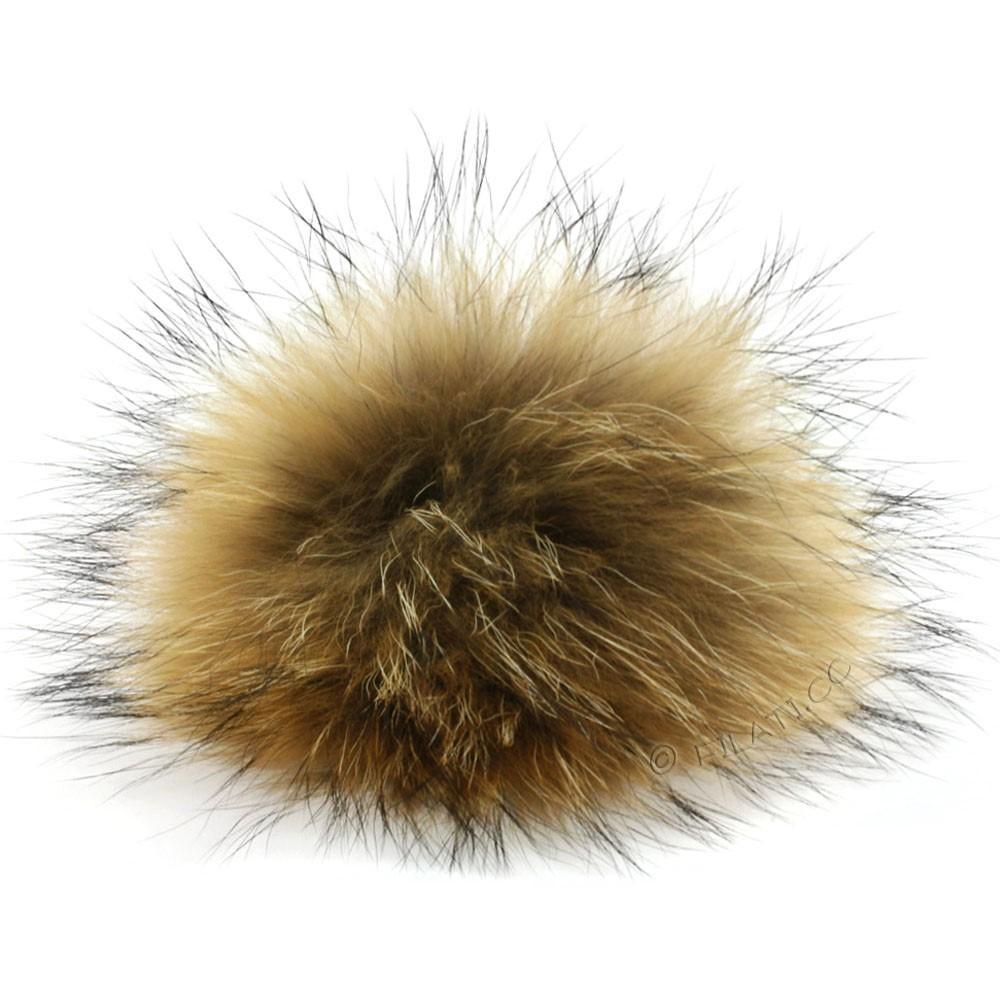 Fur Pompom Finnraccoon Natur | 116