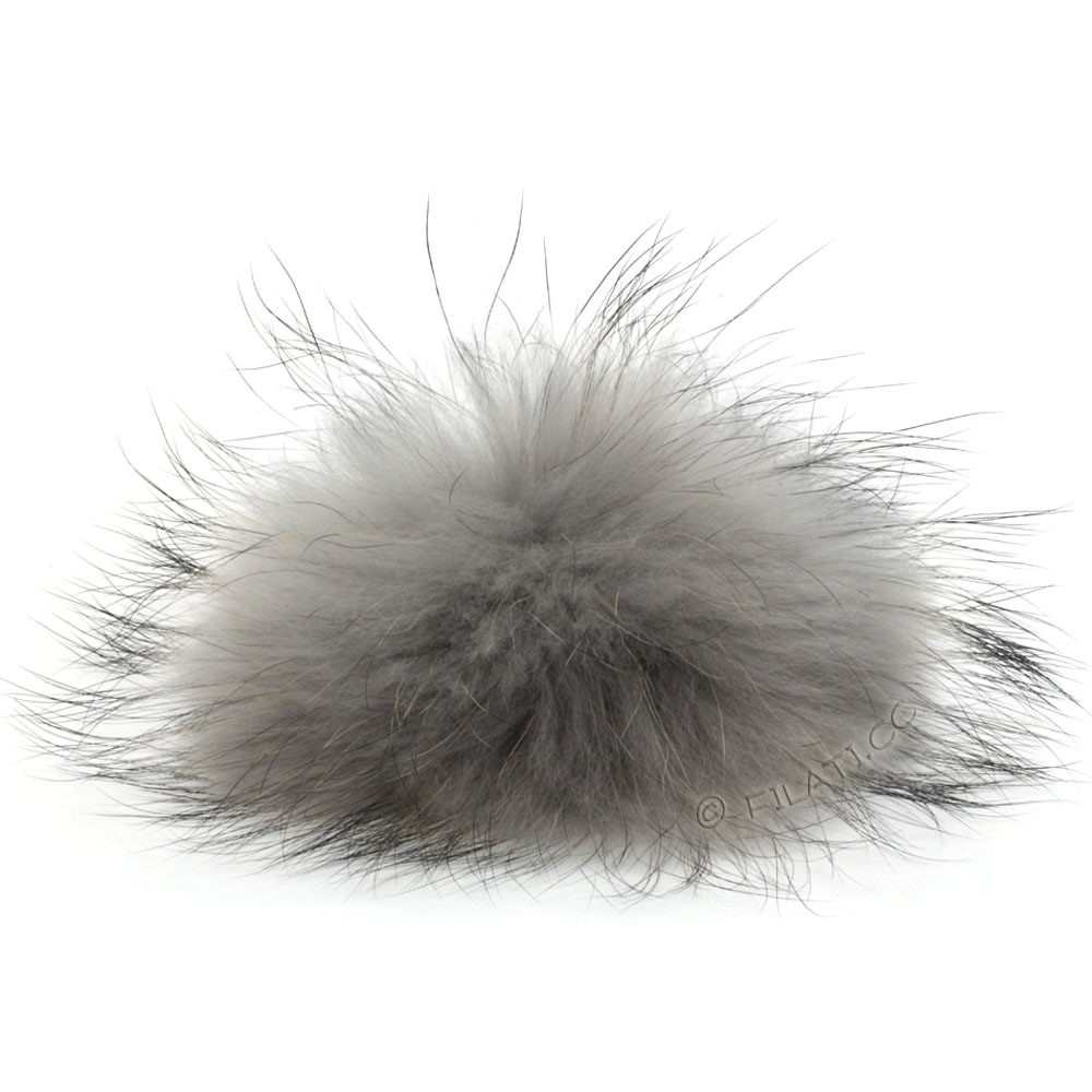 Fur Pompom Finnraccoon Natur | 117-ice gray
