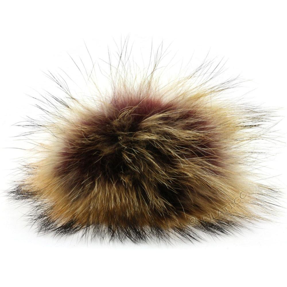 Fur Pompom Finnraccoon Natur | 118-chestnut