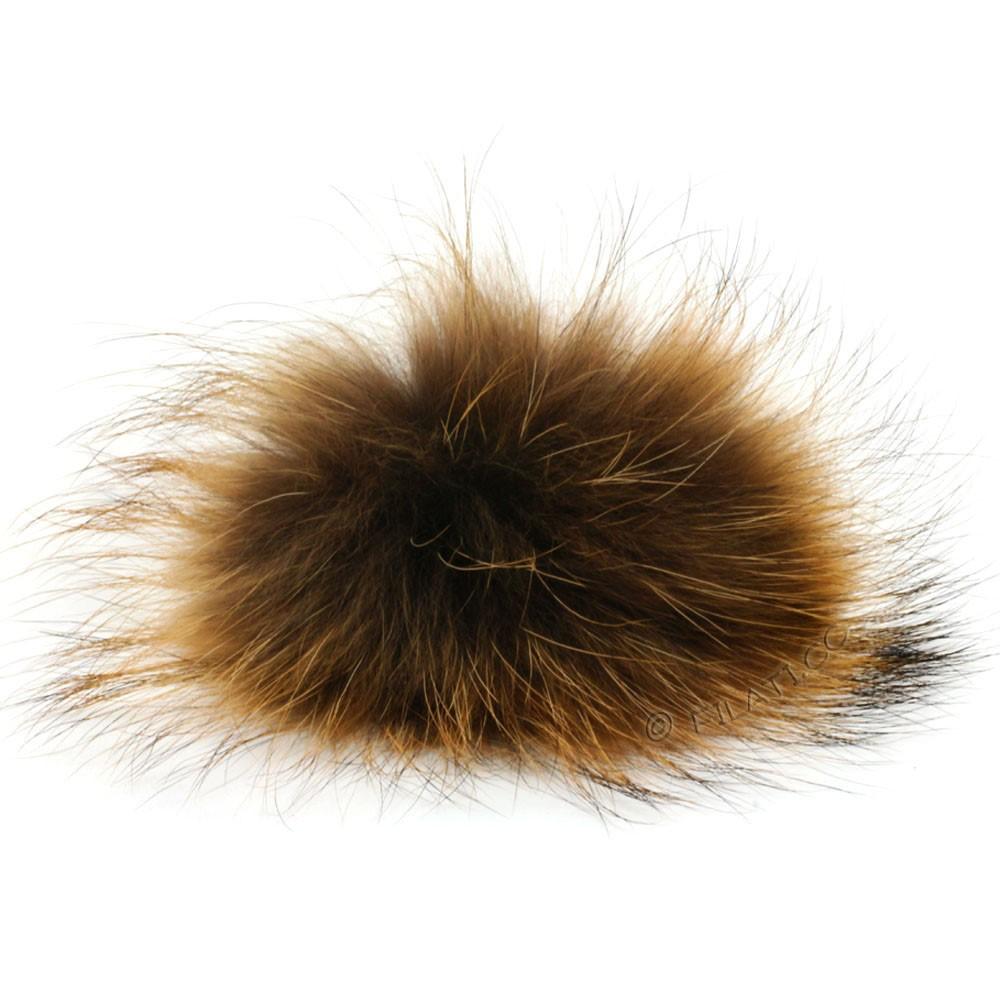 Fur Pompom Finnraccoon Natur | 119-nougat