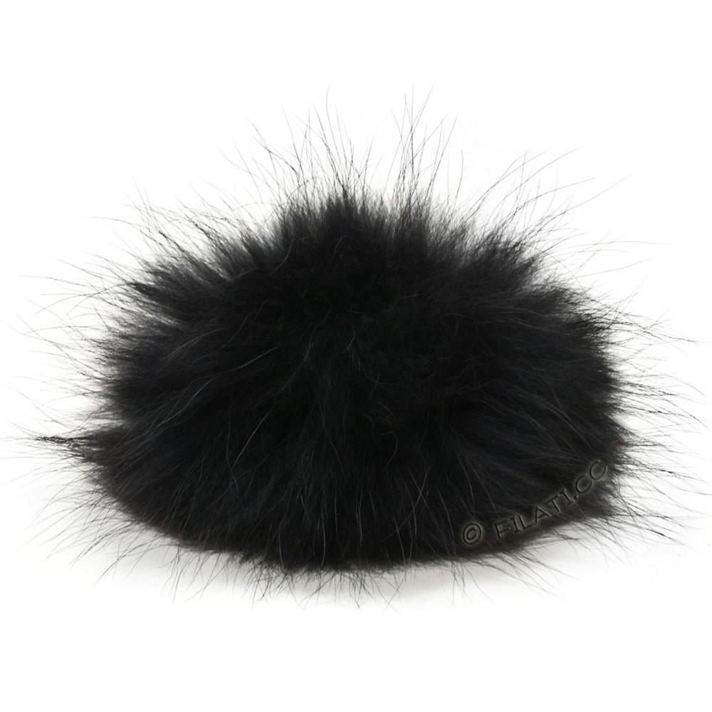 Fur Pompom Finnraccoon Natur | 127-black