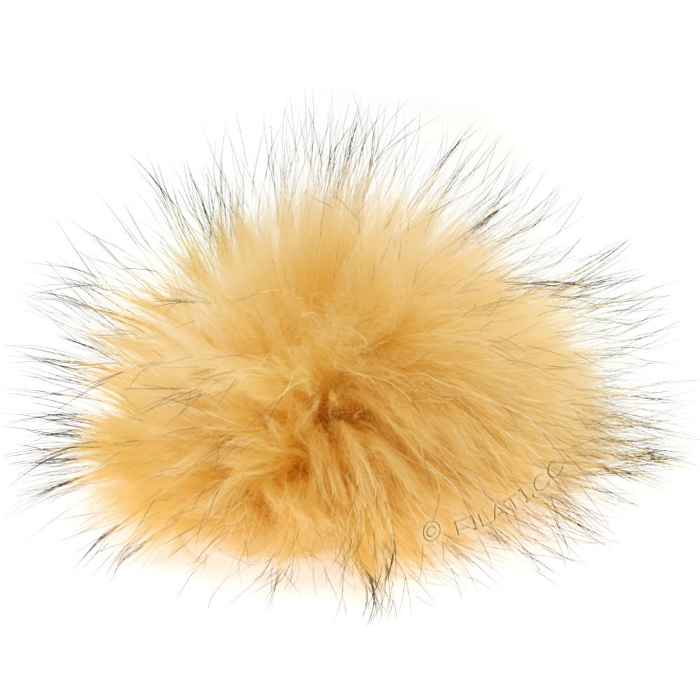 Fur Pompom Finnraccoon Pastel | 600-peach