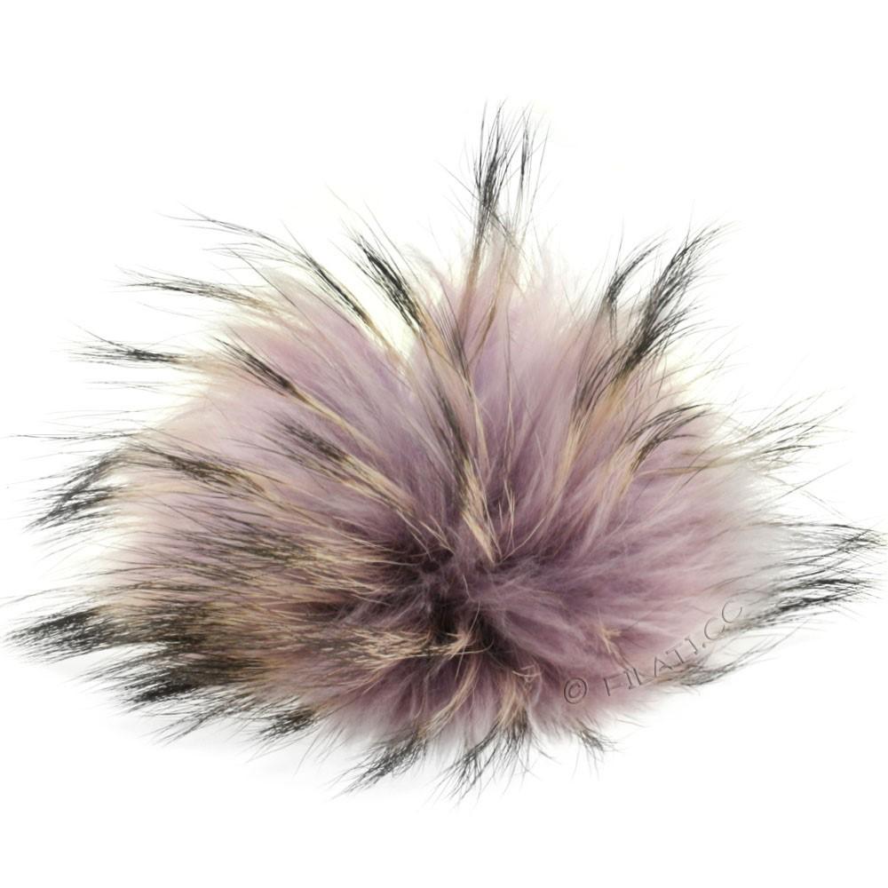 Fur Pompom Finnraccoon Pastel | 602-lilac