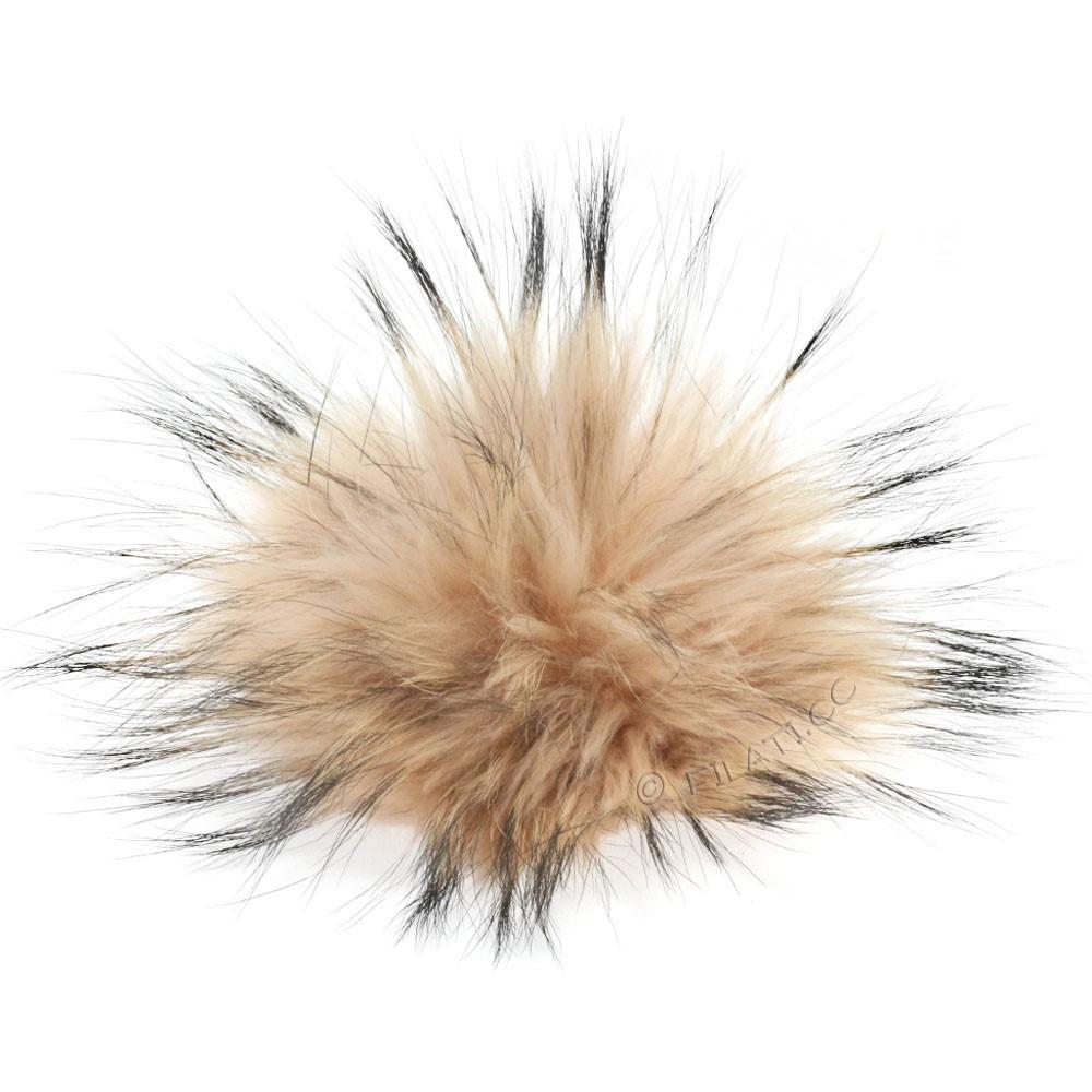 Fur Pompom Finnraccoon Pastel | 606-salmon