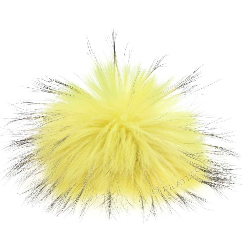 Fur Pompom Finnraccoon Pastel | 608-citrus