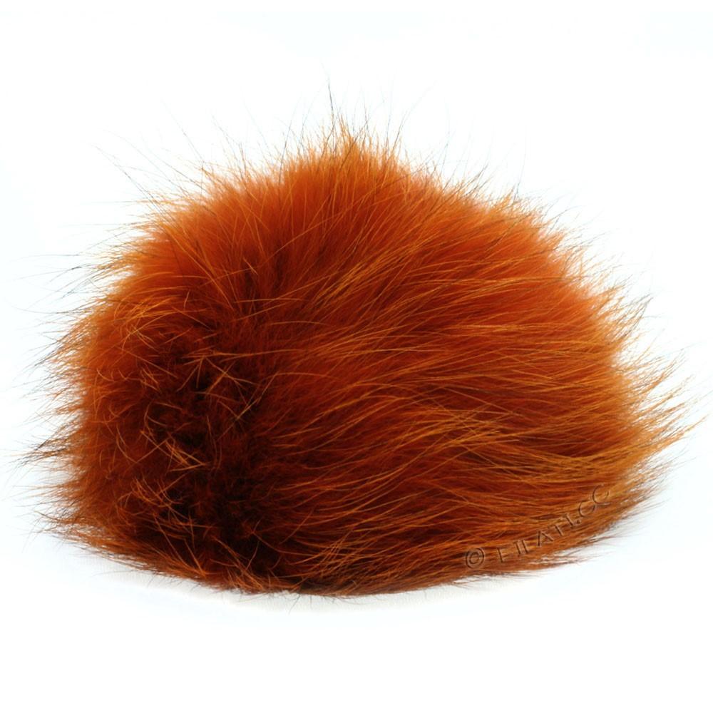 Fur Pompom Fox | 09-orange