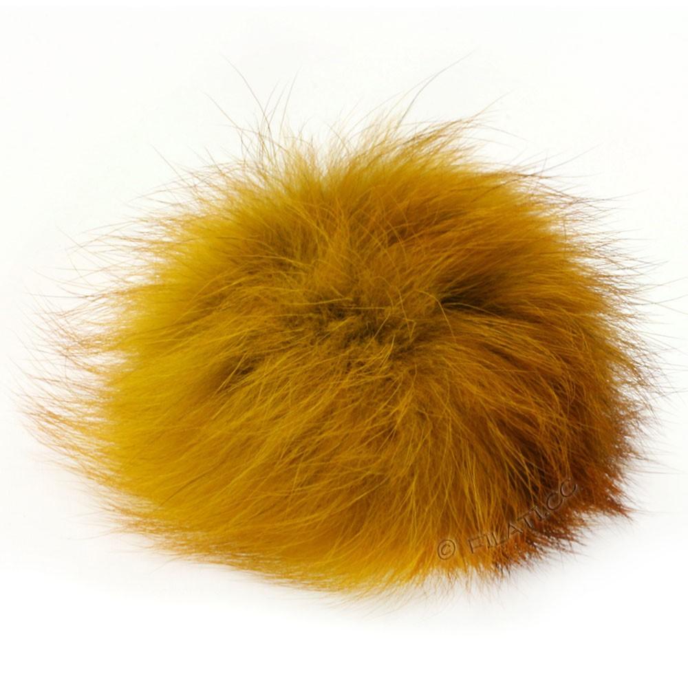 Fur Pompom Fox | 15-mustard