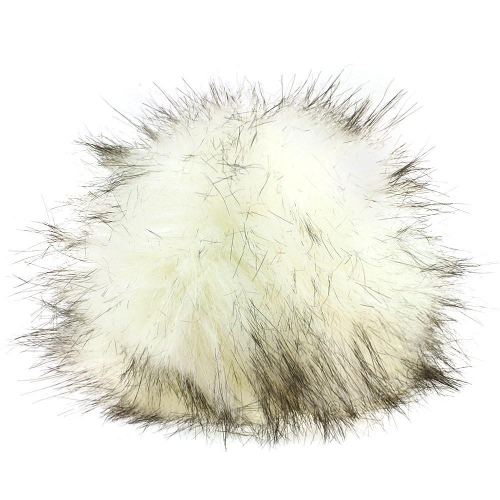 Fake Fur Pompom Natural | 01-polar