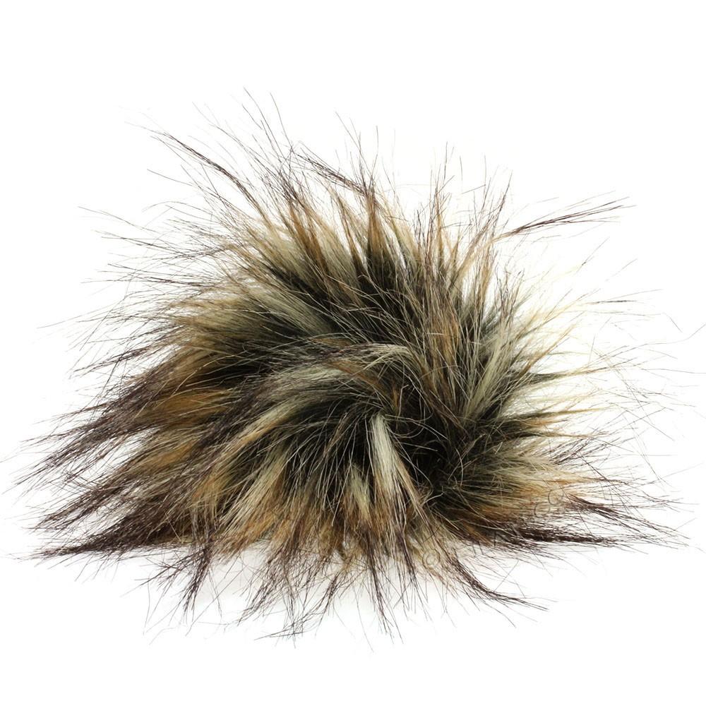 Fake Fur Pompom Natural | 08-natural melange