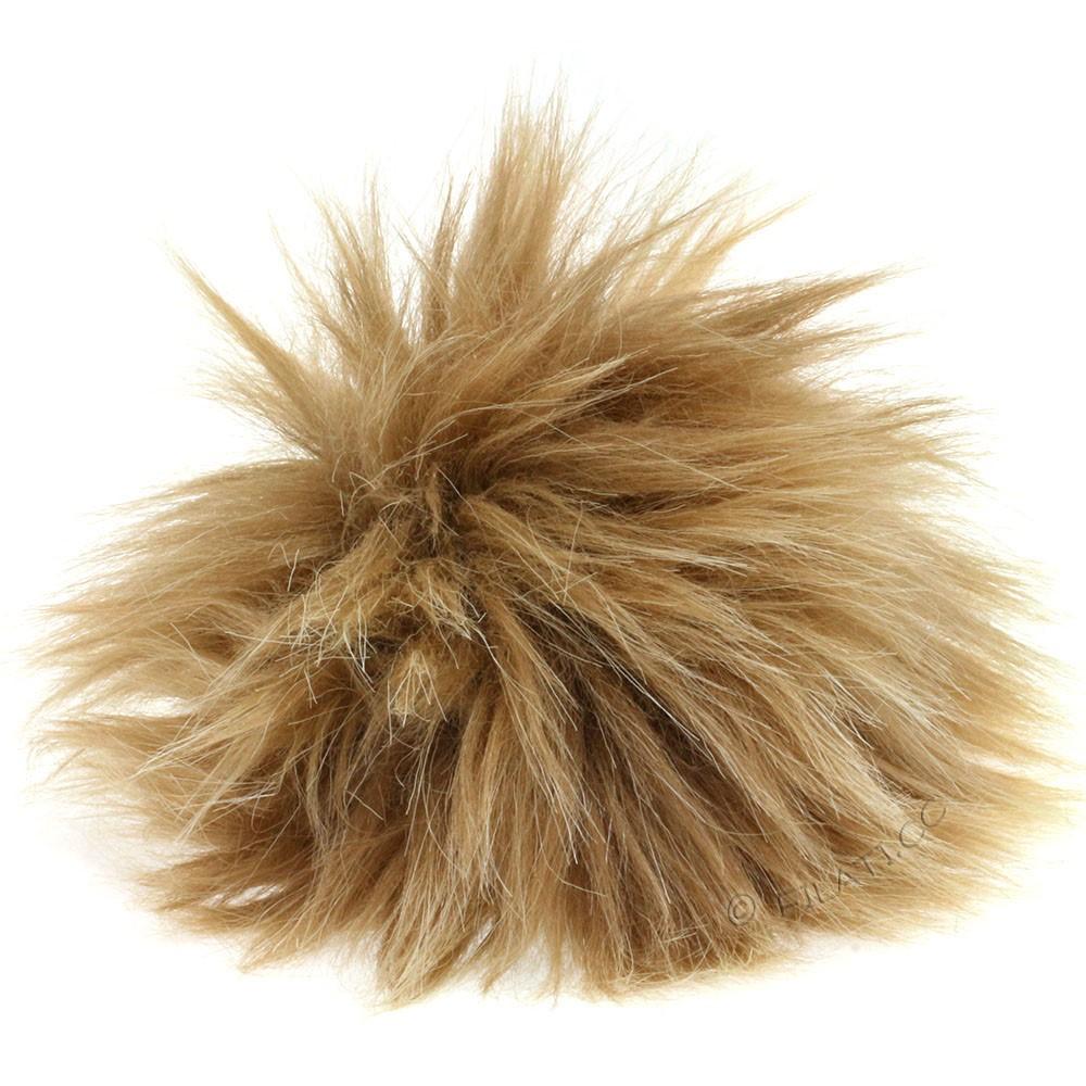 Fake Fur Pompom Natural | 11-alaskan beige