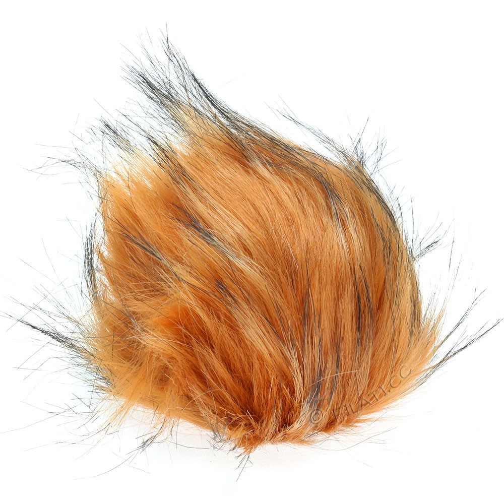 Fake Fur Pompom Color | 111-rust