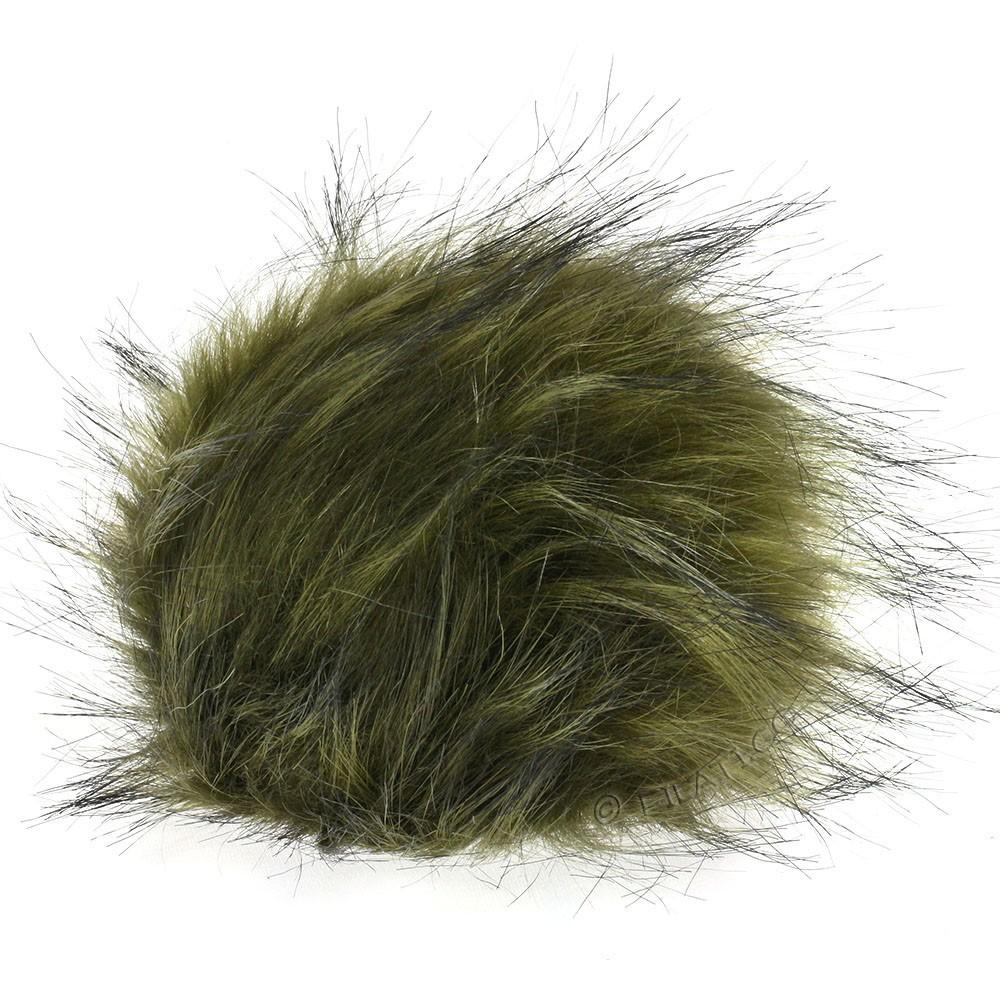 Fake Fur Pompom Color | 114-military