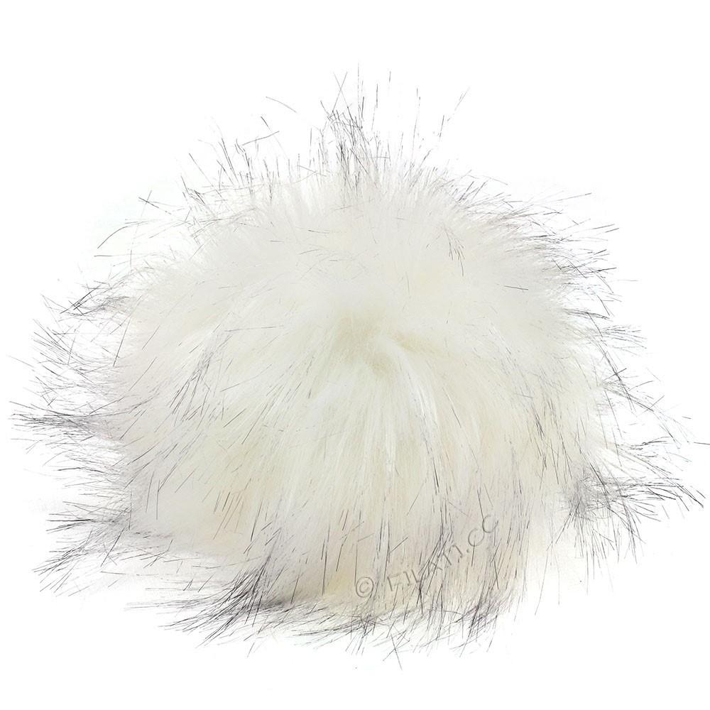 Fake Fur Pompom Color | 119-white