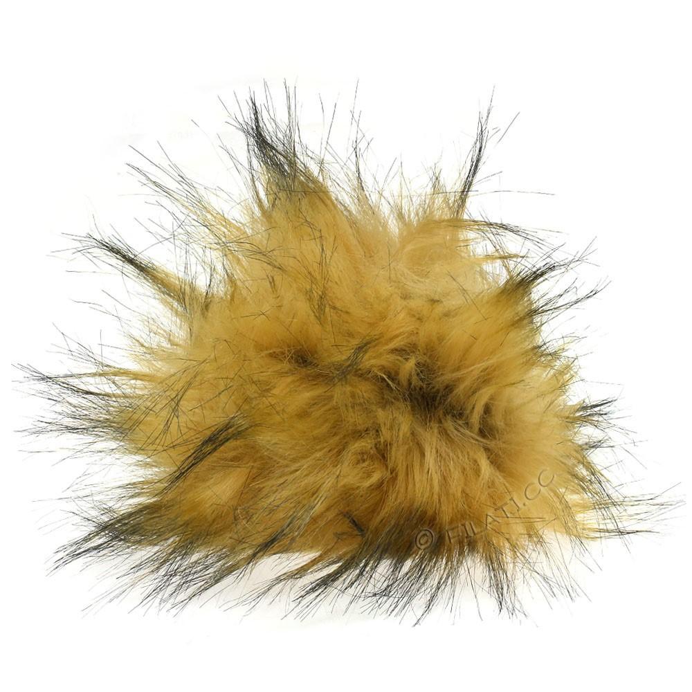 Fake Fur Pompom Natural