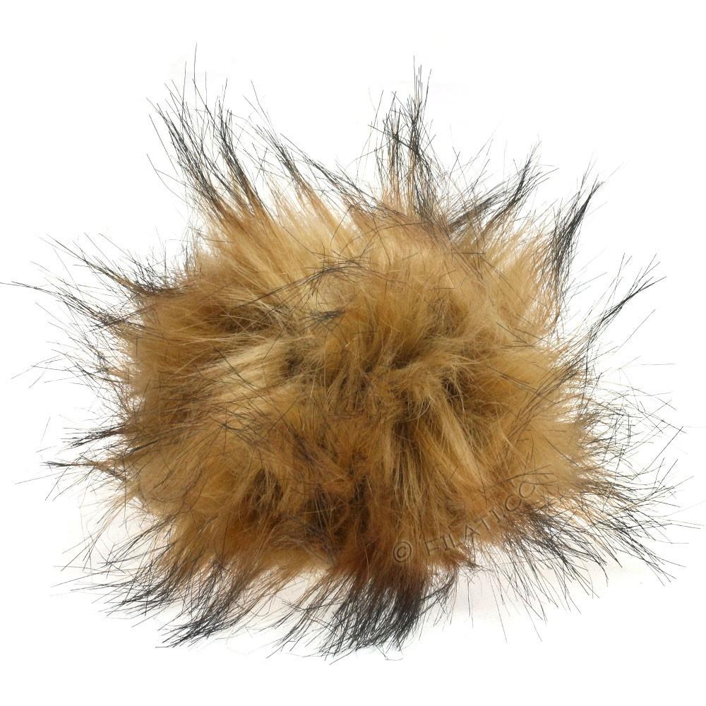 Fake Fur Pompom Natural | 14-camel