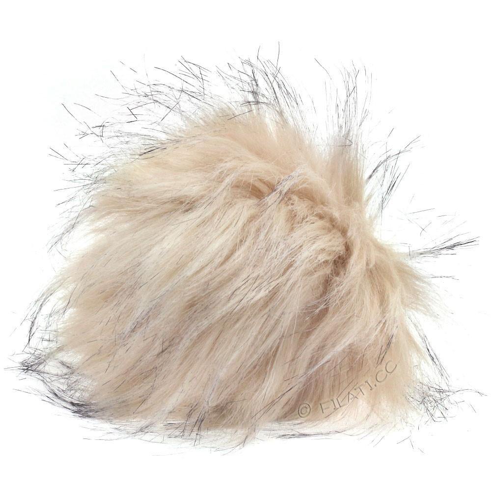 Fake Fur Pompom Natural | 15-raw white