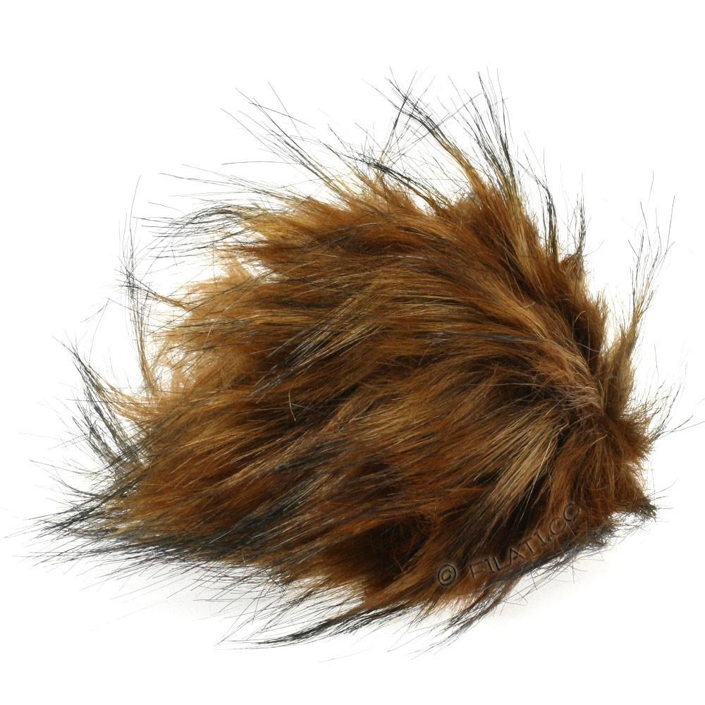 Fake Fur Pompom Natural | 16-dark brown