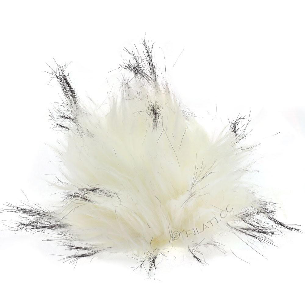 Fake Fur Pompom Natural | 18-snow white