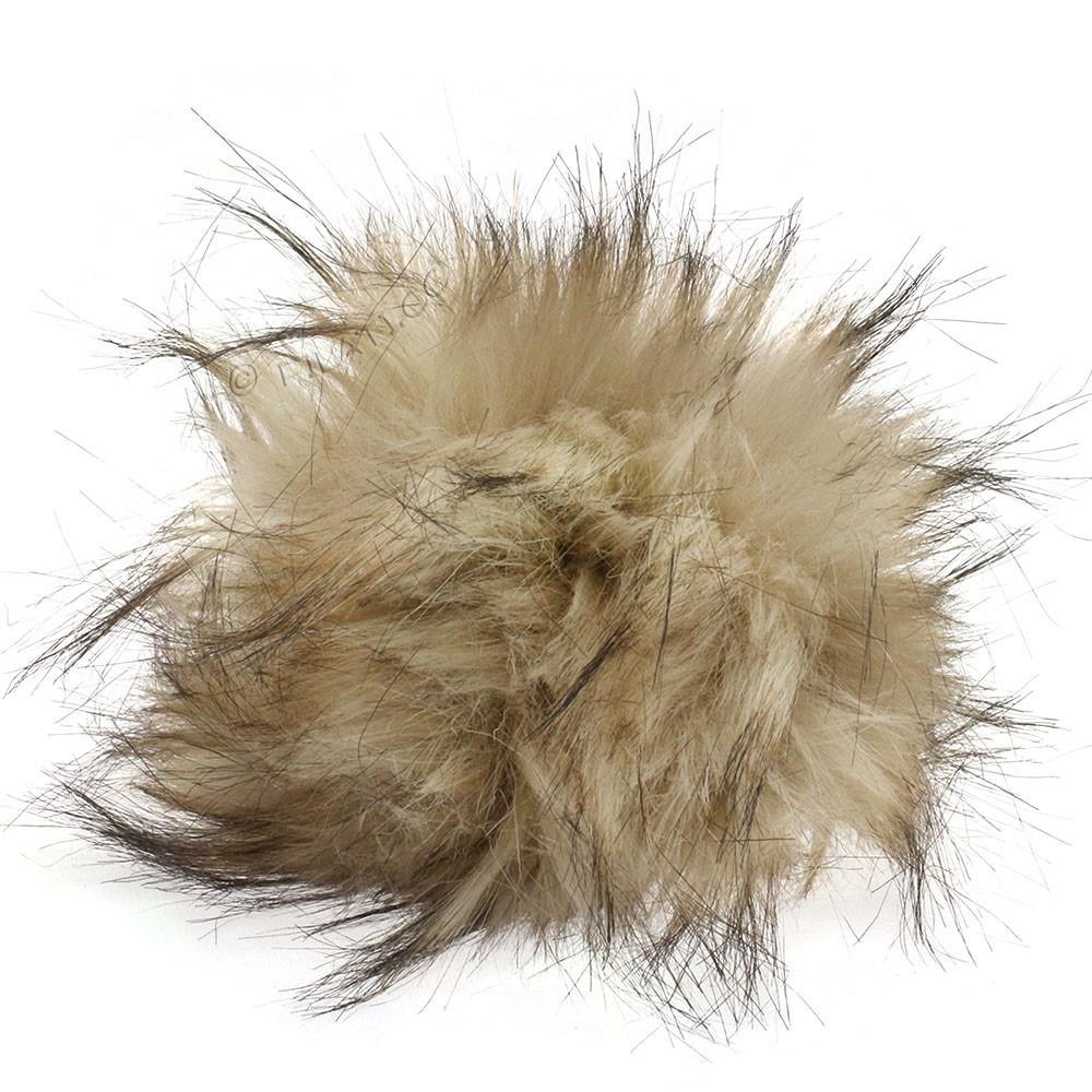 Fake Fur Pompom Natural | 21-wolf
