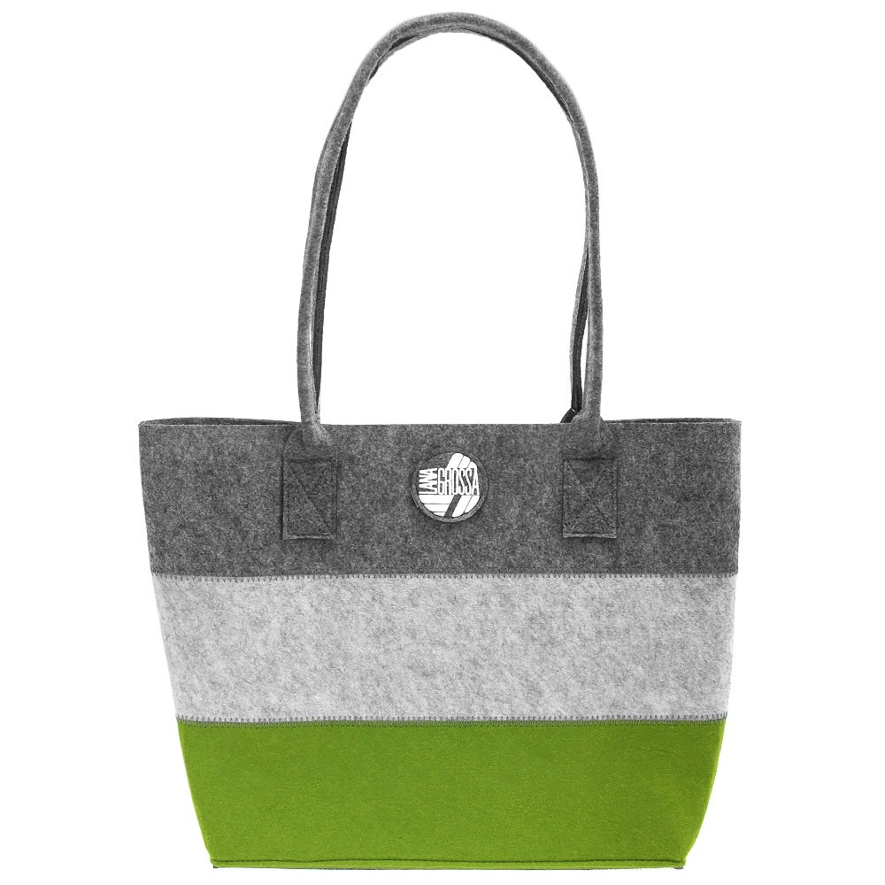 Shopper with inside pocket | 01-green