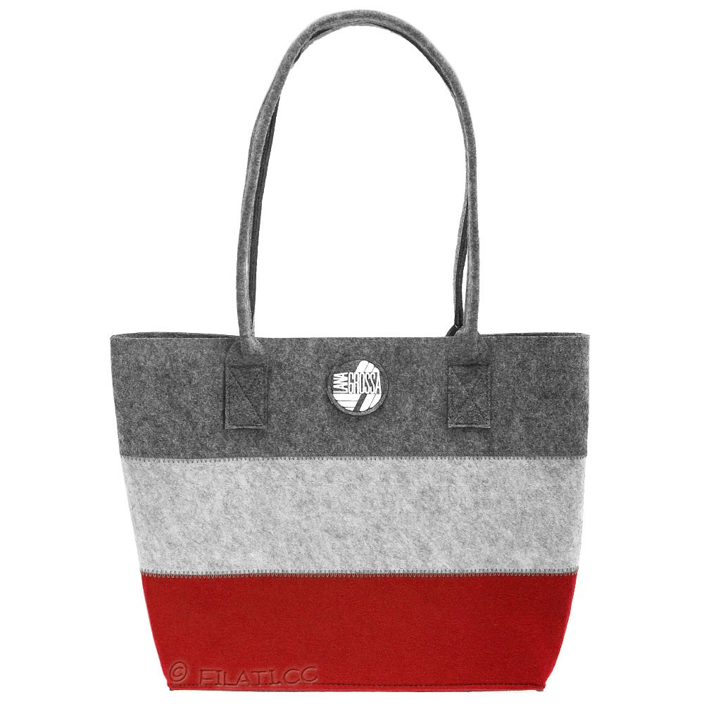 Shopper with inside pocket | 02-red