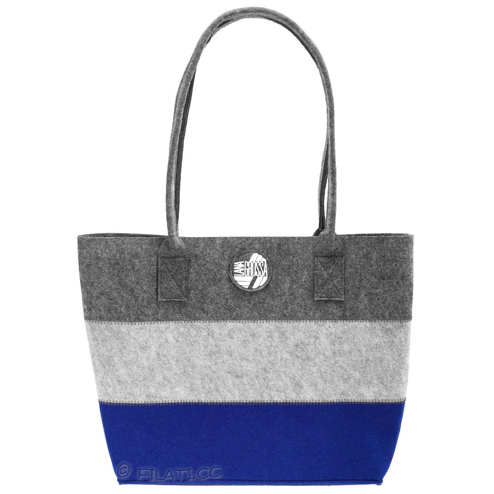 Shopper with inside pocket | 04-blue