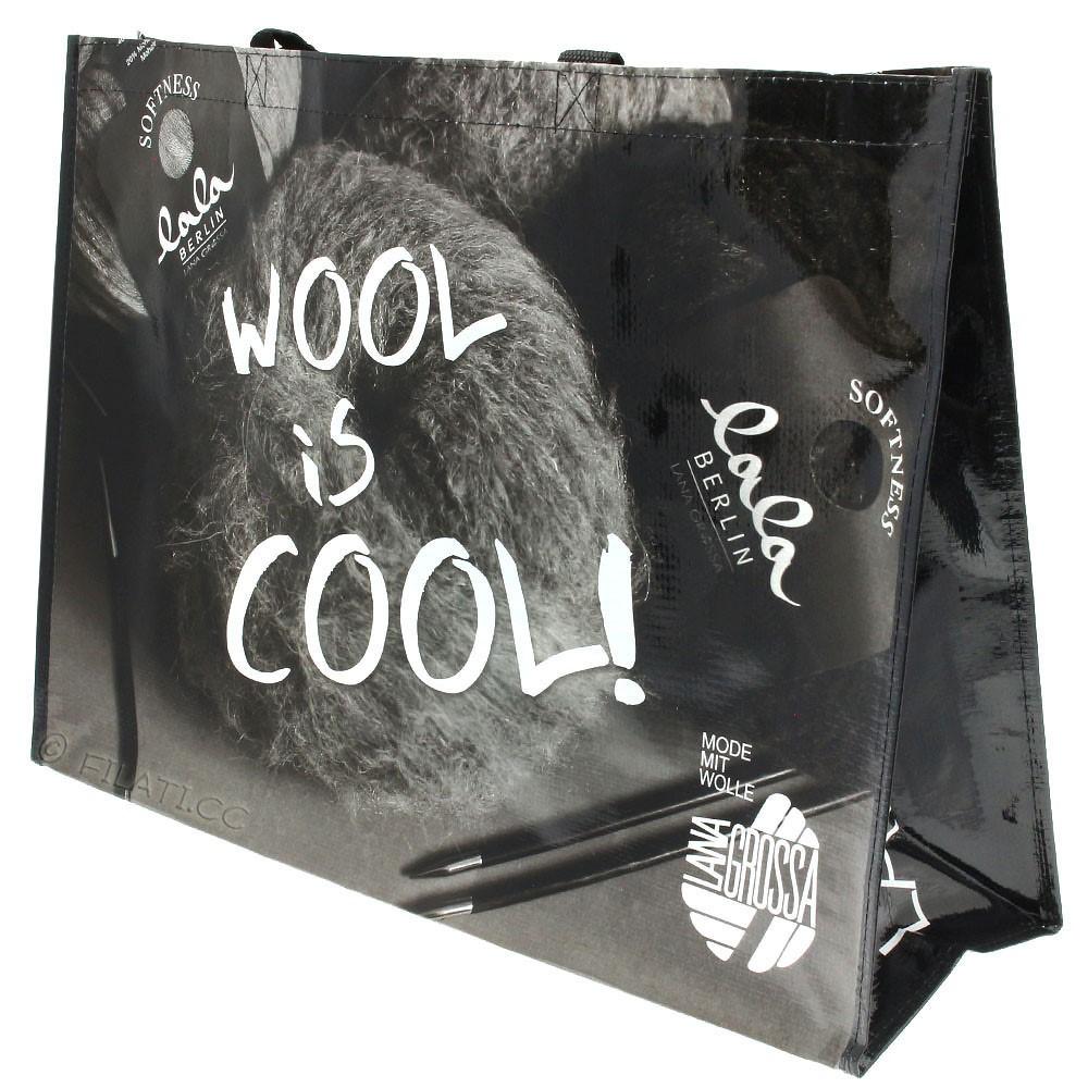 Shopper WOOL IS COOL - 2 | 01-black/white/gray
