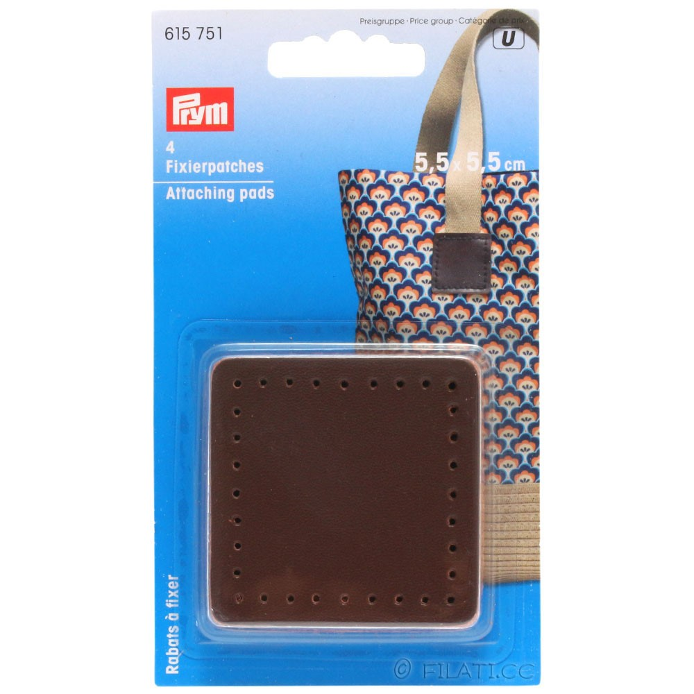 Attaching pads 615751/55mm | 01-brown