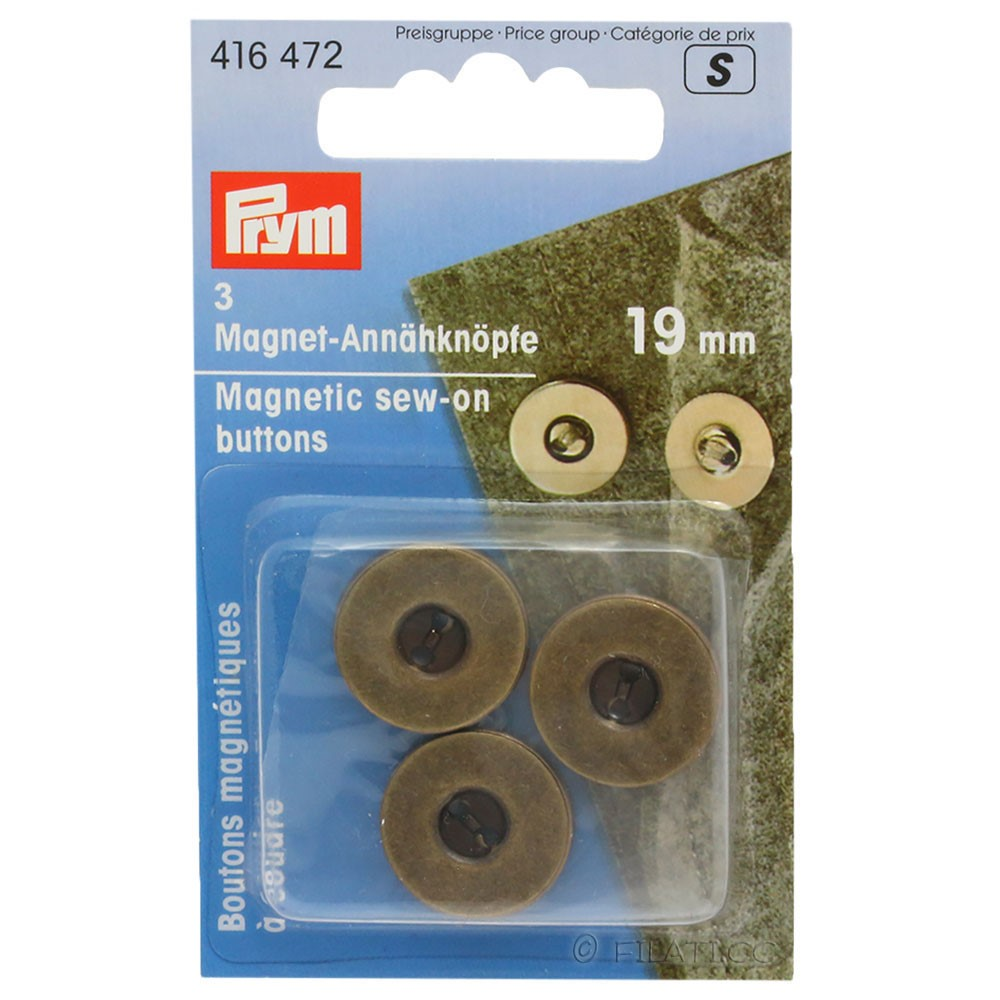 PRYM 416472/19mm | 472-antique brass