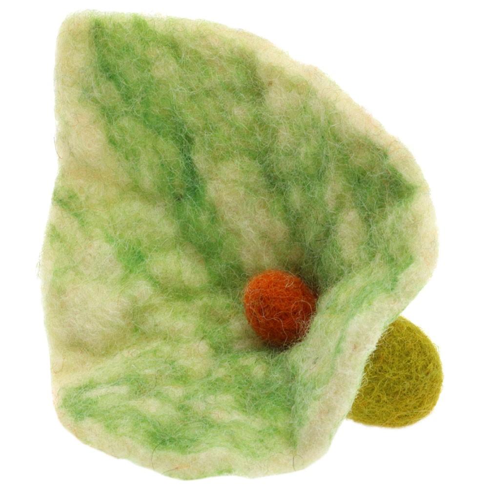 Felted blossom/12cm | 01-green
