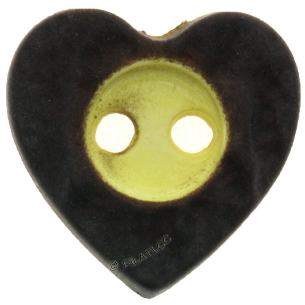 UNION KNOPF 31492/12mm | 22-dark brown/yellow