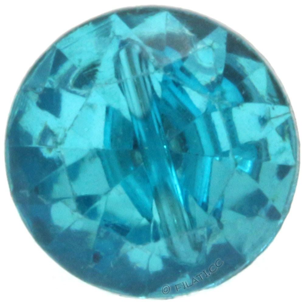 UNION KNOPF 451019/11mm | 70-Diamond imitation petrol
