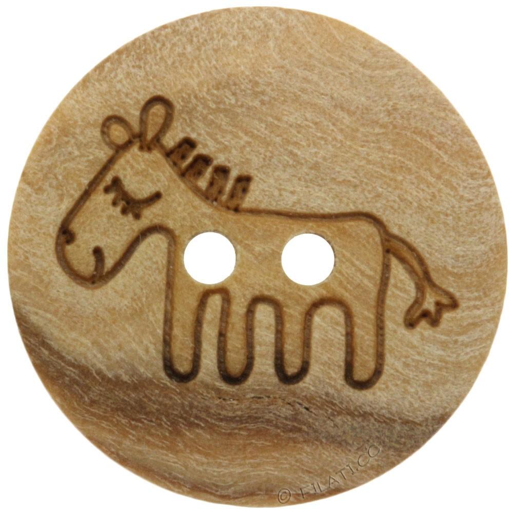 UNION KNOPF 451020/15mm   090-horse motif