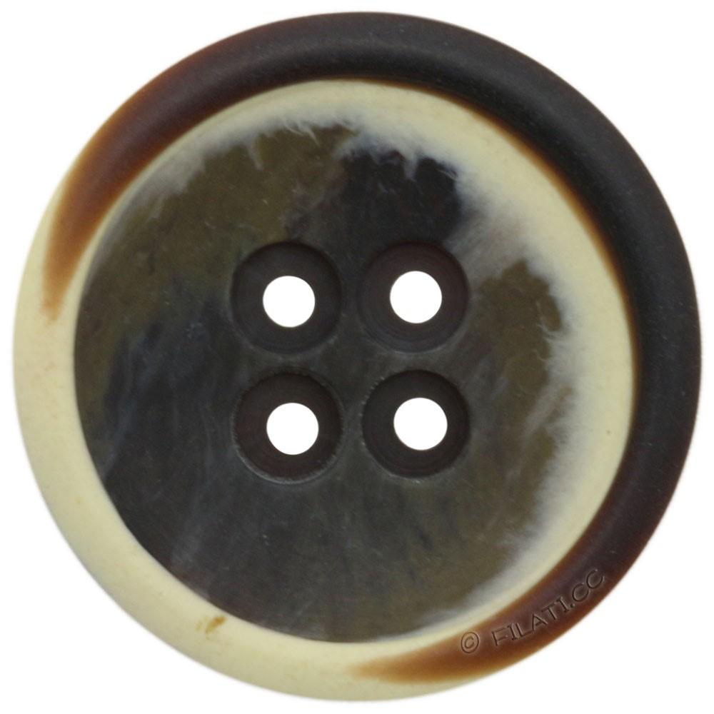 UNION KNOPF 451506/28mm | 22-dark brown/raw white