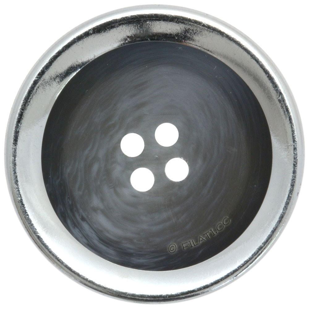 UNION KNOPF 452555/25mm | 76-blue/gray/silver