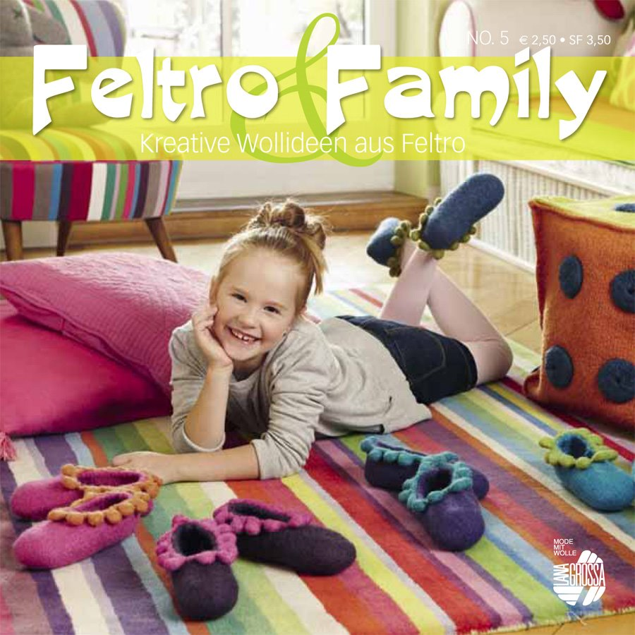 Lana Grossa STRICK & FILZ No. 5 (Feltro & Family) - German Edition