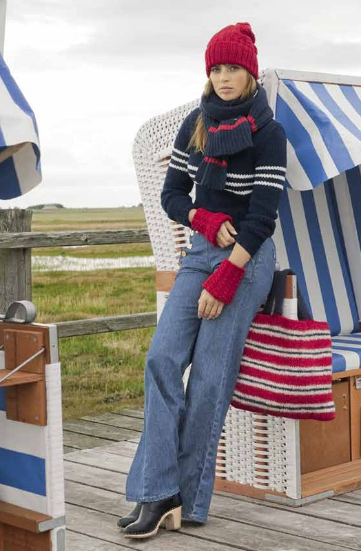 Lana Grossa TURTLENECK PULLOVER WITH STRIPES Mille II